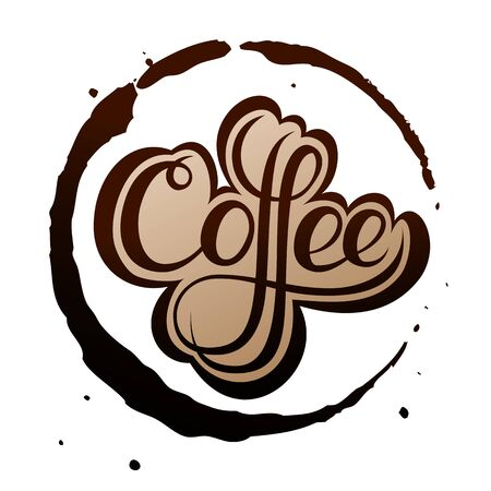 spill: Coffee Stain, Isolated On White Background. Illustration