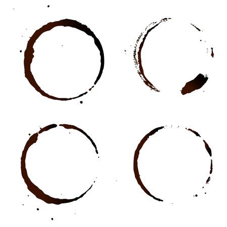 Kaffee-Fleck, auf weißen Hintergrund.