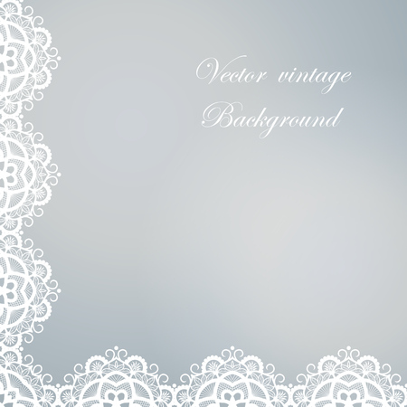 abstract swirls: Abstract square lace frame with paper swirls, vector ornamental background Illustration