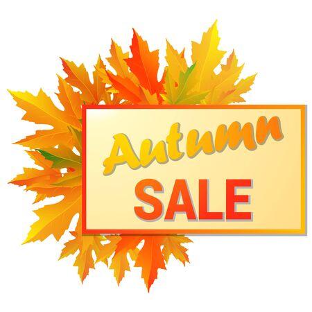 fall leaf: Autumn typographic. Fall leaf. Vector illustration EPS 10 Illustration