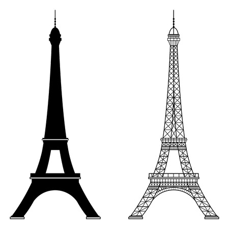Eiffel tower isolated vector illustration, it is easy to edit and change. Фото со стока - 65941297