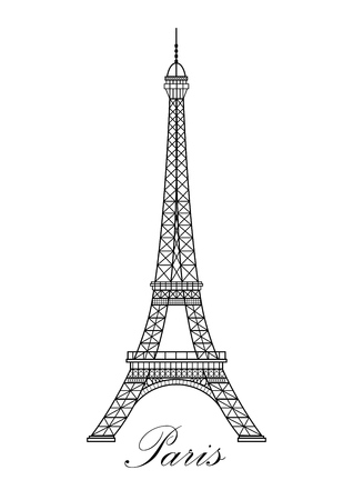 Torre Eiffel ilustración vectorial, es fácil de editar y cambiar. Foto de archivo - 65941276