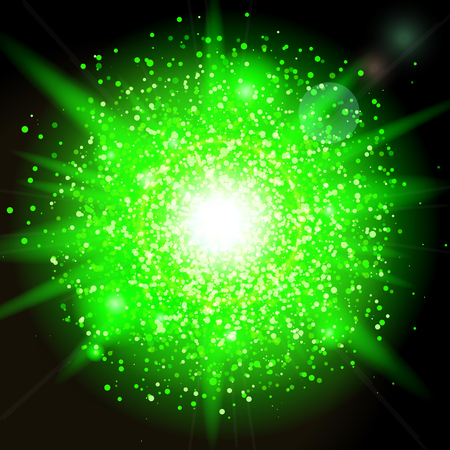 glitter particles background effect. Sparkling texture. Star dust sparks in explosion on black background. Illustration