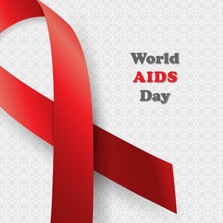 relaciones sexuales: Aids Awareness. World Aids Day concept. Vector illustration