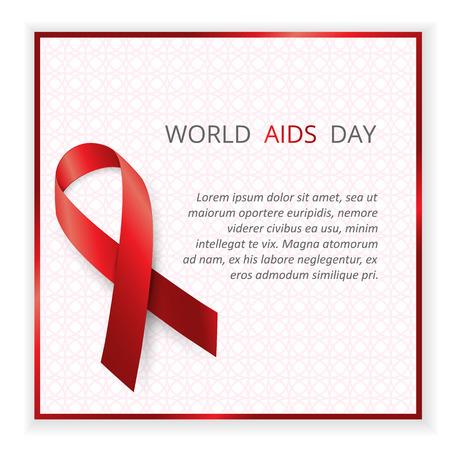 relaciones sexuales: Conciencia del SIDA. concepto del Día Mundial del Sida. ilustración vectorial Vectores