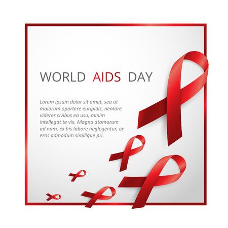 aids virus: Aids Awareness. World Aids Day concept. Vector illustration