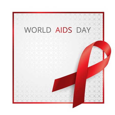 sexual intercourse: Aids Awareness. World Aids Day concept. Vector illustration