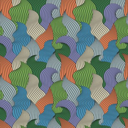 clots: Color seamless abstract hand-drawn pattern, waves background. Vector illustration.Eps 10.