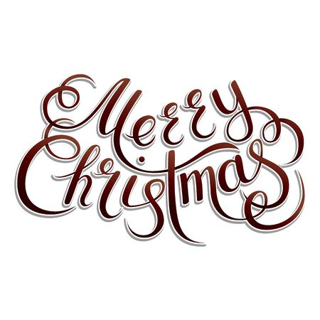 title emotions: Christmas Card. Merry Christmas lettering on a background. Vector illustration.