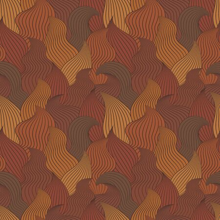 sea weed: Color seamless abstract hand-drawn pattern, waves background. Vector illustration.Eps 10.