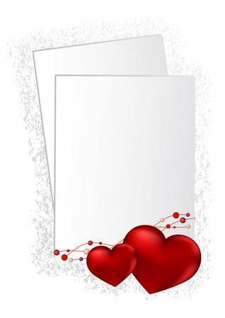 Happy Valentines Day Schriftzug Grußkarte auf rotem Hintergrund