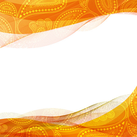 Abstract background, yellow transparent waved line brochures, website,  design. smoke wave.