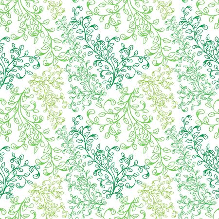composed: Seamless pattern composed of leaves and branches.
