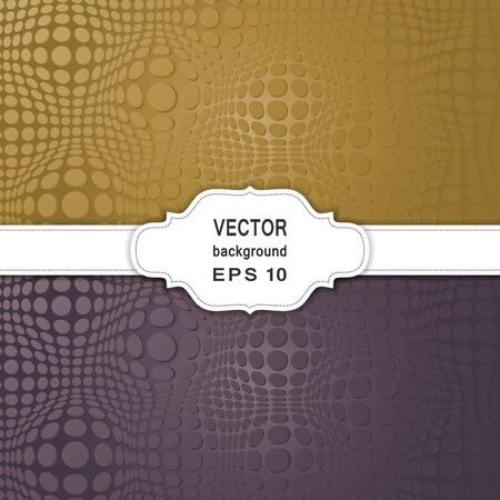 vector raster background: Set of Abstract Halftone Backgrounds. Stock Photo