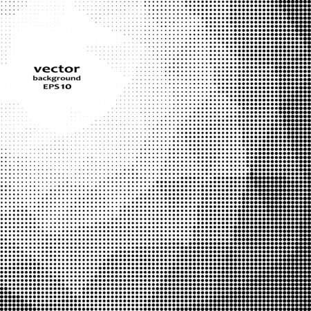 white abstract: Vector illustration with halftone pattern. Black and white abstract vector background. Stock Photo