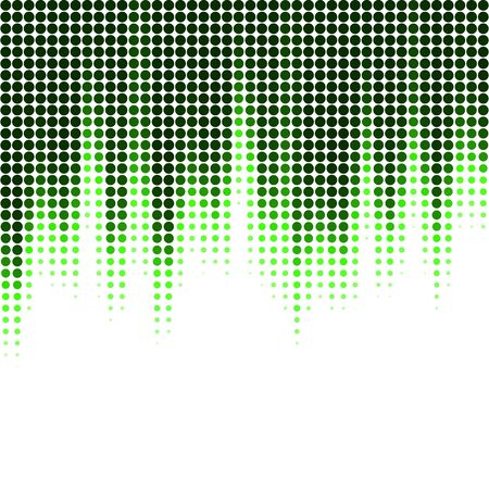 Vector illustration with halftone pattern. ?bstract green vector background.
