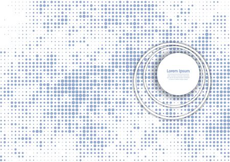 bstract: Vector illustration with halftone pattern. ?bstract blue vector background.