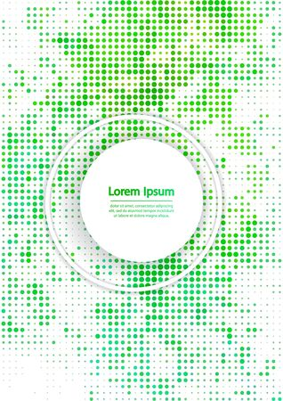 bstract: Vector illustration with halftone pattern. ?bstract green vector background.