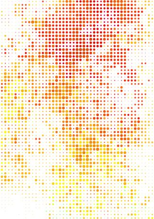 bstract: Vector illustration with halftone pattern. ?bstract red vector background.