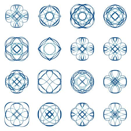 decoration design: Calligraphic design elements and page decoration
