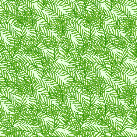 branches with leaves: Seamless pattern composed of leaves and branches.