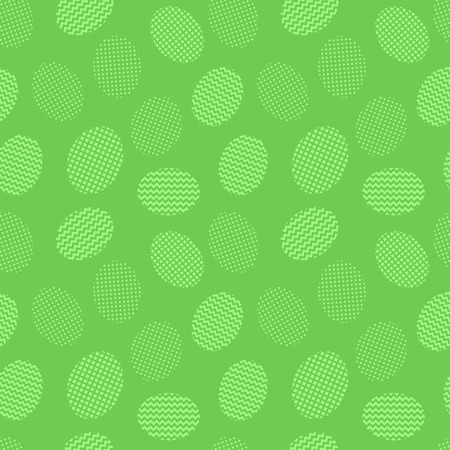 Easter eggs green background. Seamless pattern. Vector illustration