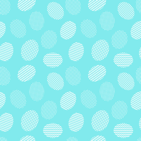 Easter eggs blue background. Seamless pattern. Vector illustration Stock Photo