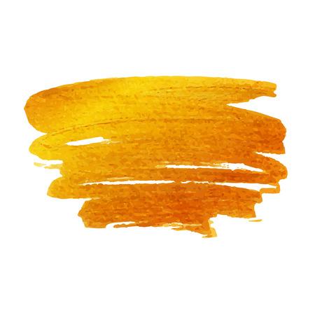 brush stroke: Golden brush stroke. Vector golden splash.