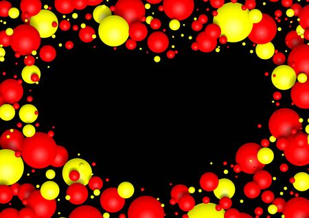 Colorful Glossy Balls Background. Falling Spheres. Abstract Candies.