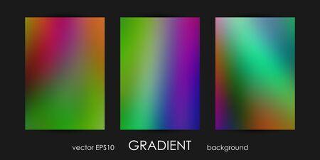 Set of trendy gradient backgrounds for cover, flyer, brochure, poster, wedding invitation, wallpaper, backdrop.