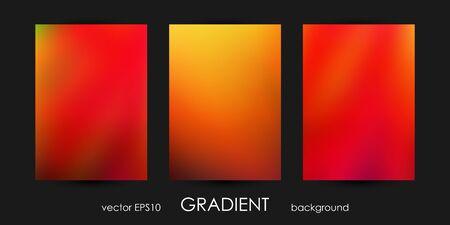 Set of Trendy Gradient Backgrounds for Cover, Flyer, Brochure, Poster, Wedding Invitation, Wallpaper, Backdrop. Ilustração