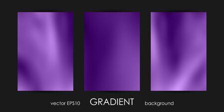 Set of Trendy Gradient Backgrounds