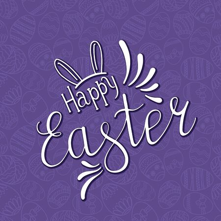 Happy Easter Day greeting card template design for cards, posters, banners