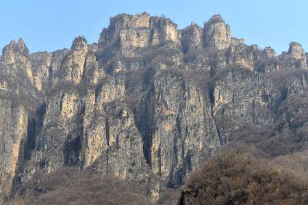 steep: Steep Taihang Mountains peak