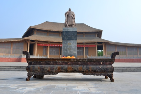 surname: Sculpture of Zhang Hui at the great temple