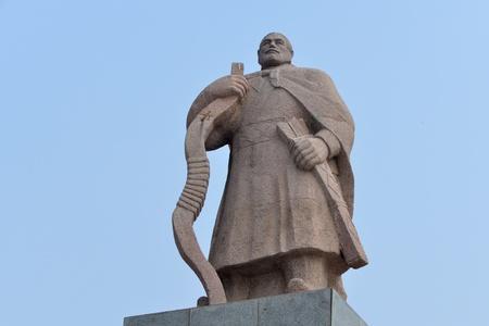 surname: Sculpture of Zhang Hui Stock Photo