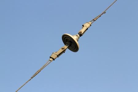 insulators: Insulators over sky background