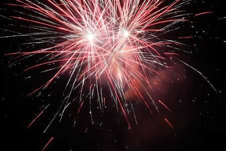 pyrotechnics: The magnificent fireworks Stock Photo