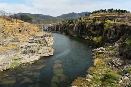 beck: The qihe river scenery Stock Photo