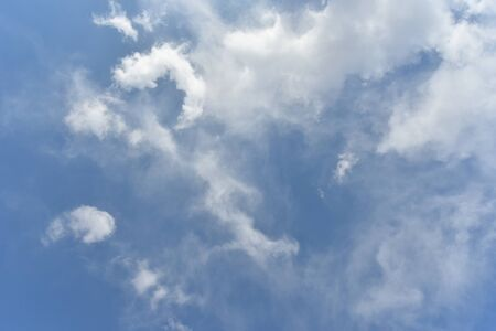 convective: Blue sky and white clouds Stock Photo