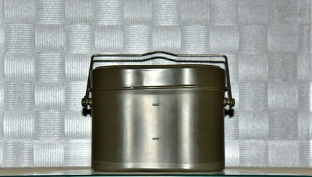 lunch box: Military use aluminum lunch box Stock Photo