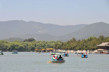 summer palace: Summer water boat in Summer Palace, Kunming Lake