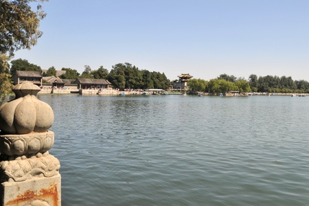 summer palace: Summer Palace Lake Editorial