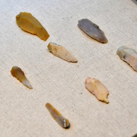 edad de piedra: recuerdos de la edad de piedra antigua desenterrados raspadores de piedra, China