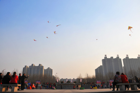 paper kites: kites flying in the air