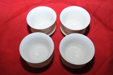 necessities: White tea bowl