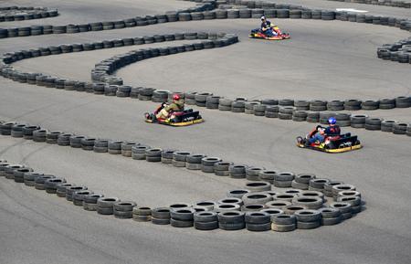 kart: Chasing the kart Stock Photo