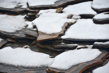 coldness: snow on the slate