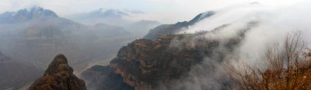 perilous: Taihang Grand Canyon Stock Photo