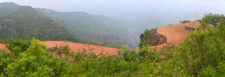 loess: Taihang Mountain on farmland scenery Stock Photo